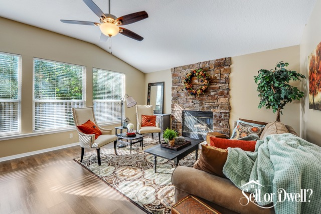 After-Comanche Trail Living Room Staging